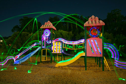 playground 50 Great Examples Of Painting With Light