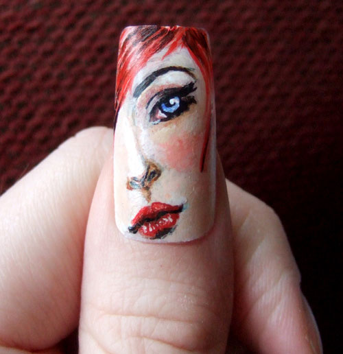 face nail 25 Really Beautiful Nail Art Designs