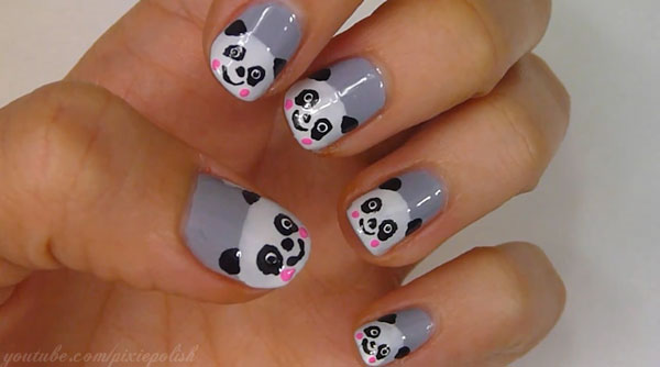 panda nail art 25 Really Beautiful Nail Art Designs
