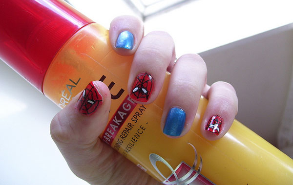 spiderman nails 25 Really Beautiful Nail Art Designs