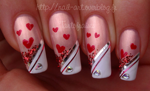 valentine s day nail art 25 Really Beautiful Nail Art Designs