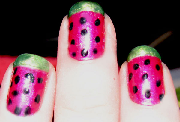 watermelon nails 25 Really Beautiful Nail Art Designs