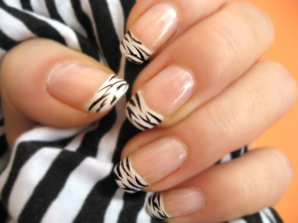 20 beautiful nail designs pictures zebra nail polish prinsesfo Image collections