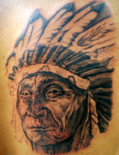 Native American Chief Tattoo