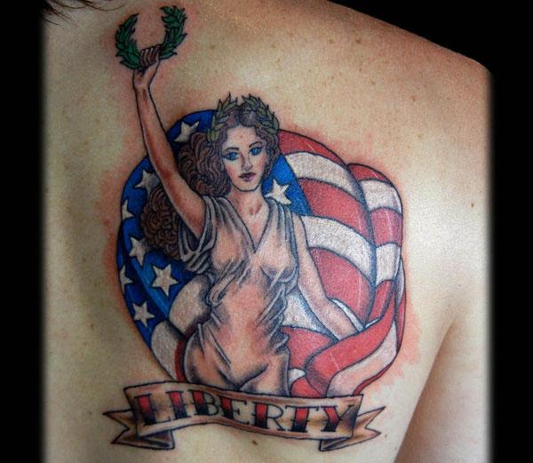 Liberty Classic Pin Up Tattoo
