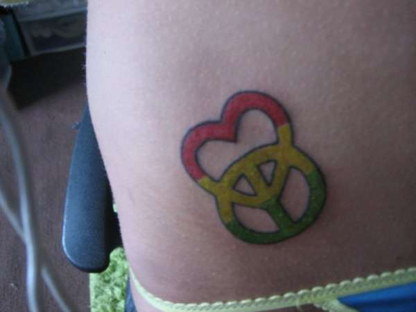 peace love tattoo 15 Best Peace Sign Tattoos