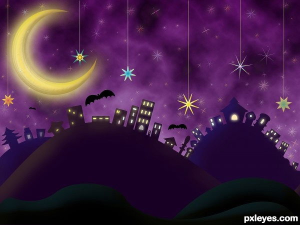 night scene 30 Killer Free Photoshop Tutorials