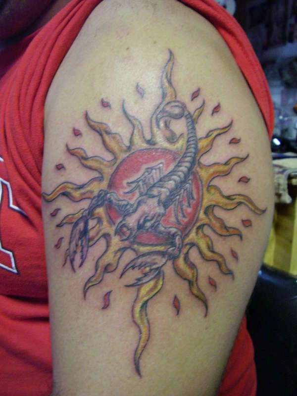 hippie scorpion tattoo 20 Spine Chilling Scorpion Tattoos