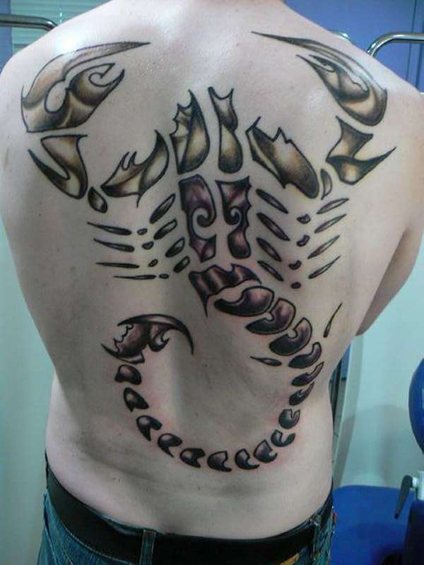 scorpion god tattoo 20 Spine Chilling Scorpion Tattoos