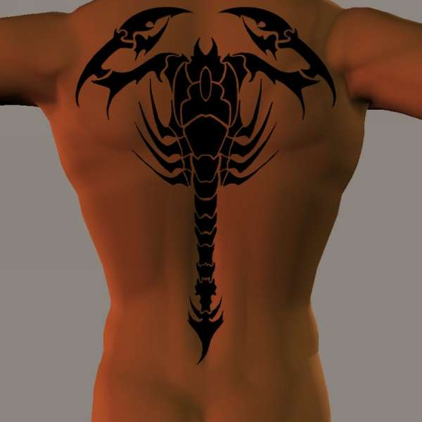 spine scorpion tattoo design 20 Spine Chilling Scorpion Tattoos