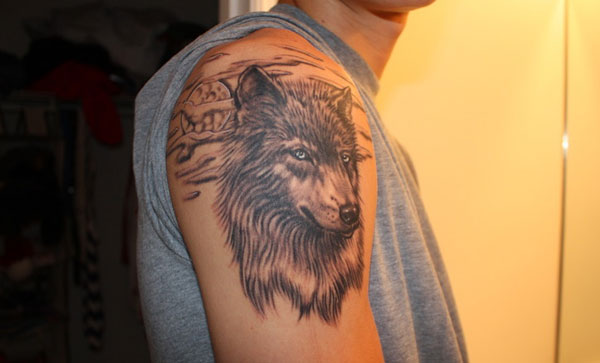 wolf 2 15 Scary Wolf Tattoo Designs