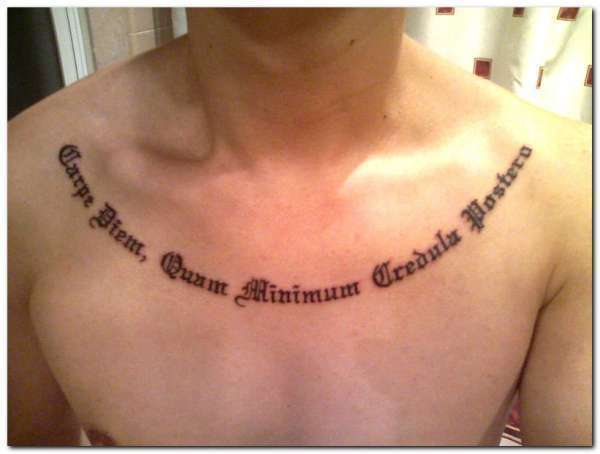 carpe diem quote 25 Enticing Word Tattoos