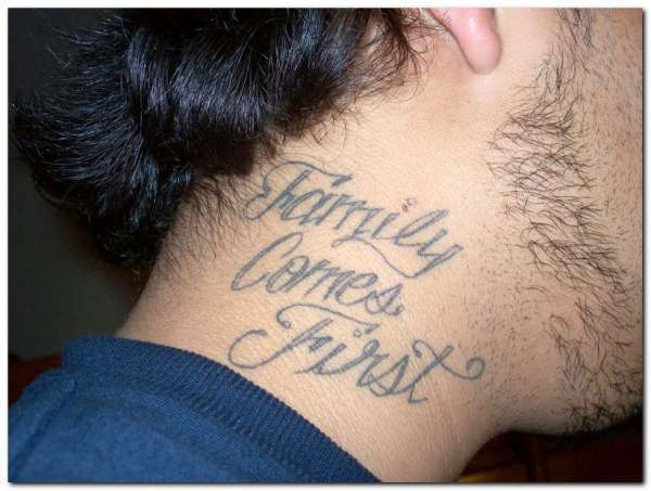 Neck Tattoo Words