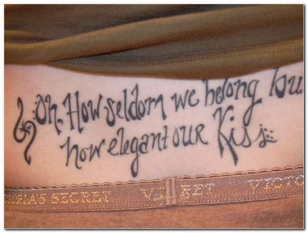 Naughty Quote Tattoo