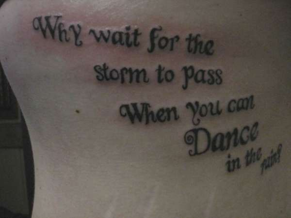 Optimistic Words Tattoo