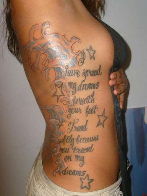 sexy love quote tattoo 25 Enticing Word Tattoos