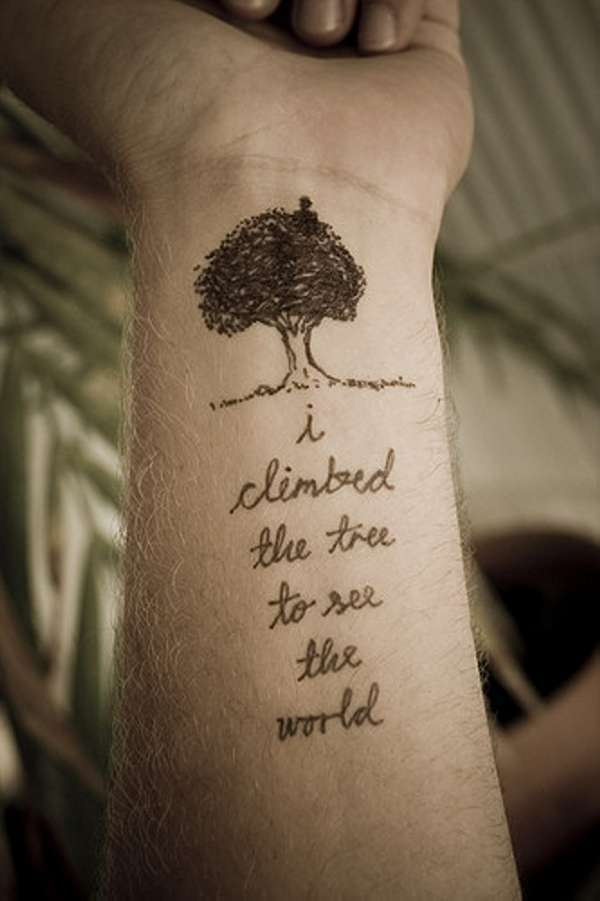 Tree Tattoo With Life Words