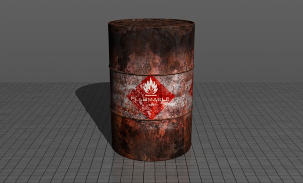 How To Make A Realistic Flammable Barrel