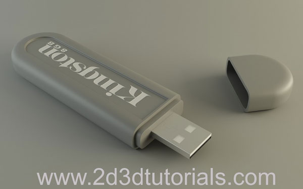 How to model a USB Memory Stick with 3ds Max