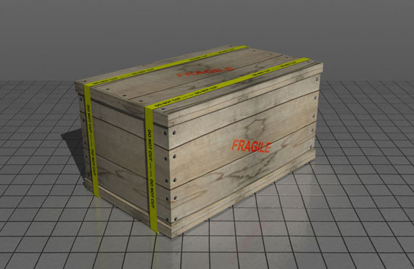 Make A Realistic Wooden Box