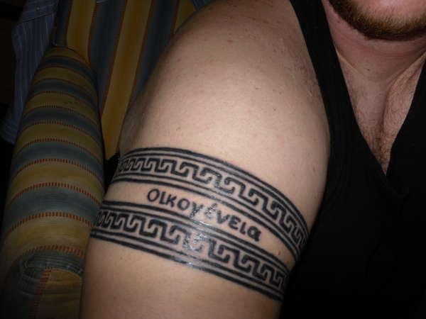 greek armband tattoo 15 Cool Armband Tattoos