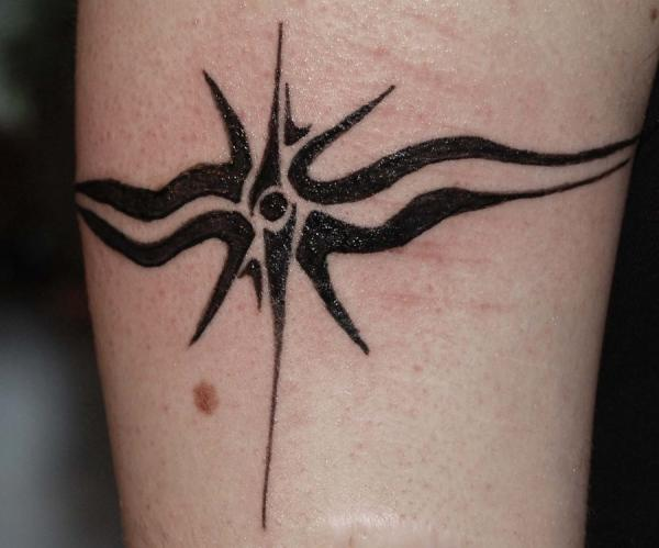 star burst armband tattoo 15 Cool Armband Tattoos