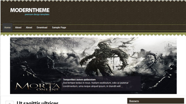 artisticbrown 25 Best WordPress Themes For Artists