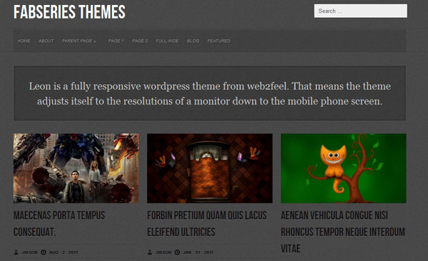 leon 25 Best WordPress Themes For Artists