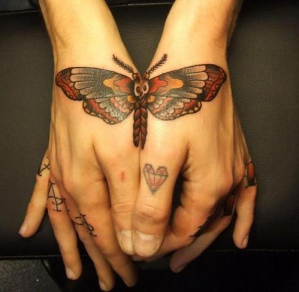Handy Butterfly Tattoo For Female