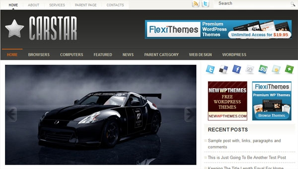 carstar 60 Free Premium WordPress Themes Of All Time