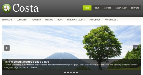 costa 60 Free Premium WordPress Themes Of All Time
