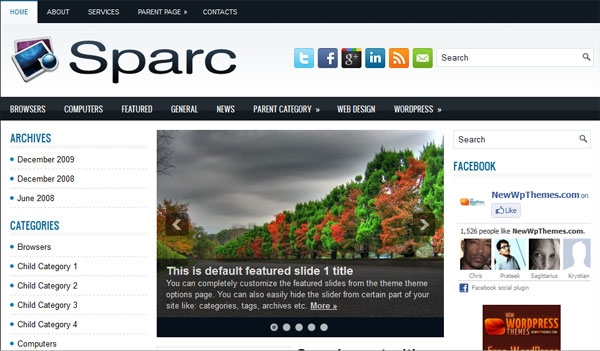 sparc 60 Free Premium WordPress Themes Of All Time