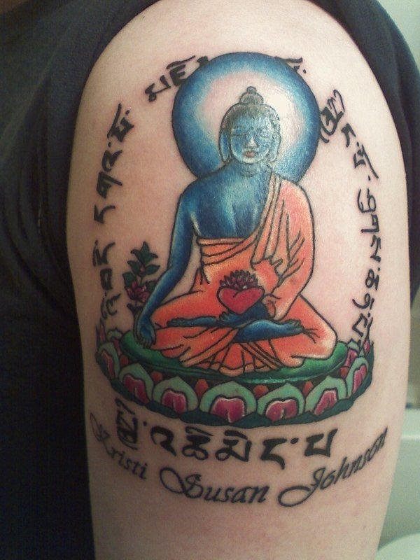 lotuses tattoo 15 Peaceful Buddhist Tattoos