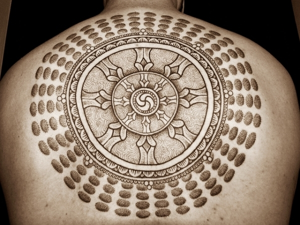 the holy ring tattoo 15 Peaceful Buddhist Tattoos
