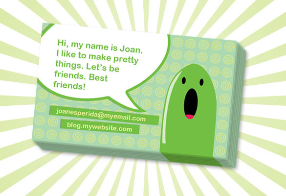 cartoony business card 30 Best Tutorials on How to Make Business Cards