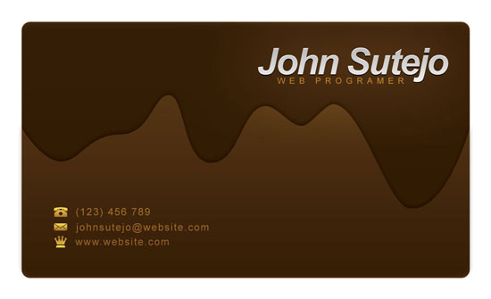 Create a Molten Chocolate Business Card