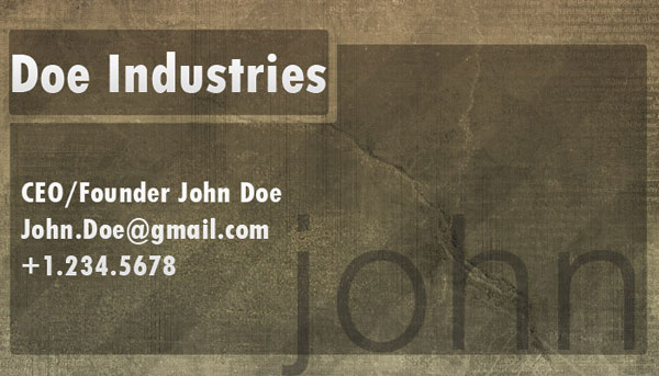 Designing a Professional Business Card in Photoshop