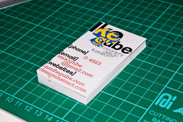 Make Swiss Design Inspired Business Cards in 30 Minutes