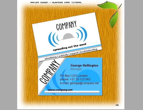 Blue Grey Visiting Card