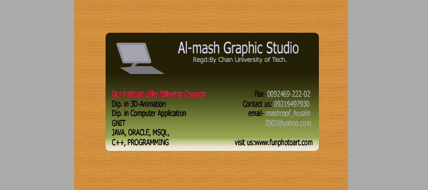 Create Webdesigners Business card