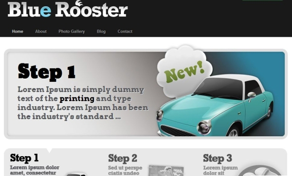 blue rooster 35 Free Business WordPress Themes Which Are Awesome