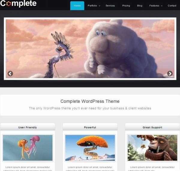 complete wordpress theme 35 Free Business WordPress Themes Which Are Awesome