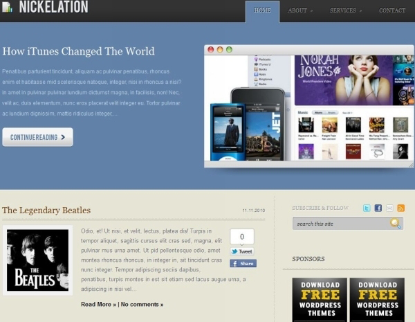 nickelation free wordpress theme 35 Free Business WordPress Themes Which Are Awesome
