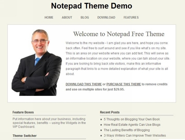 notepad theme 35 Free Business WordPress Themes Which Are Awesome