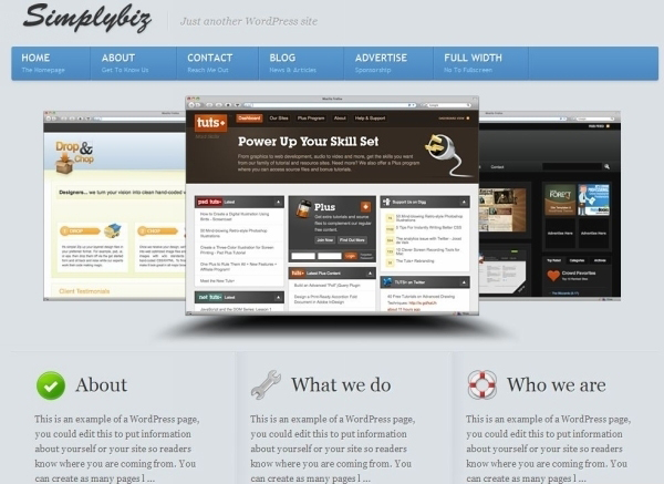 simplybiz wordpress theme 35 Free Business WordPress Themes Which Are Awesome