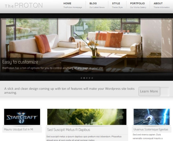 the proton 35 Free Business WordPress Themes Which Are Awesome