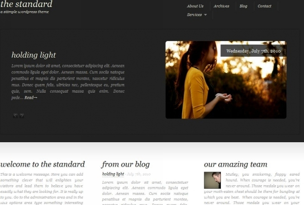 the standard free wordpress theme 35 Free Business WordPress Themes Which Are Awesome