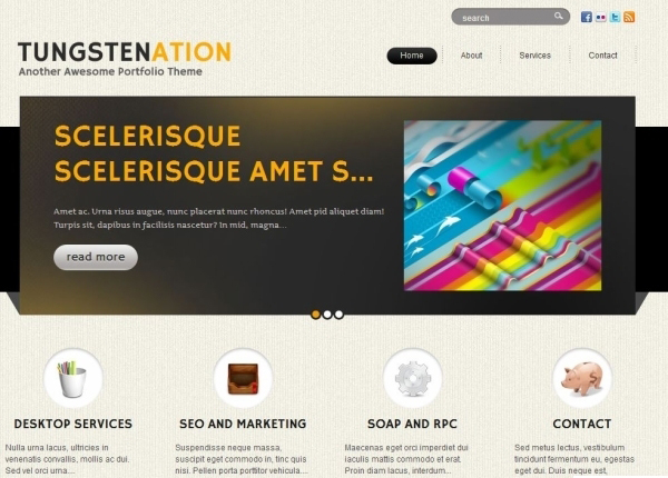 tungstenation 35 Free Business WordPress Themes Which Are Awesome