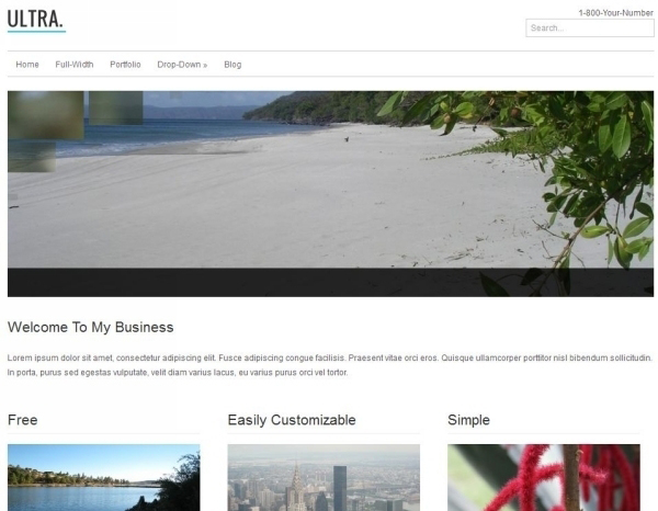 ultra free wordpress theme 35 Free Business WordPress Themes Which Are Awesome
