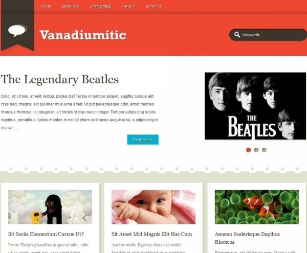 vanadiumitic wordpress theme 35 Free Business WordPress Themes Which Are Awesome